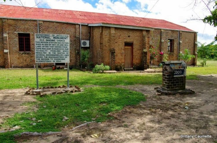 Bandawe Church, site of the Scottish missionaries before they moved up to Livingstonia.