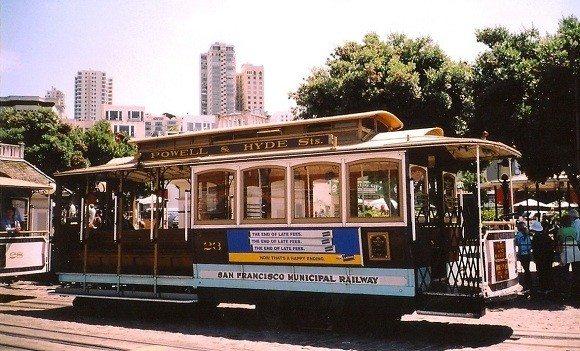 A San Francisco cable car.