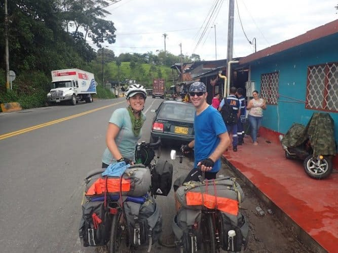 Meeting fellow bikers from Canada and Australia in the Colombian countryside.