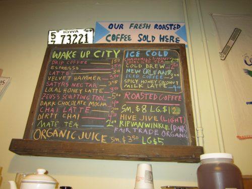 A locally owned coffee bar in Iowa City, IA.