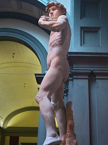 Statue of David by Michelangelo at the Academia in Florence