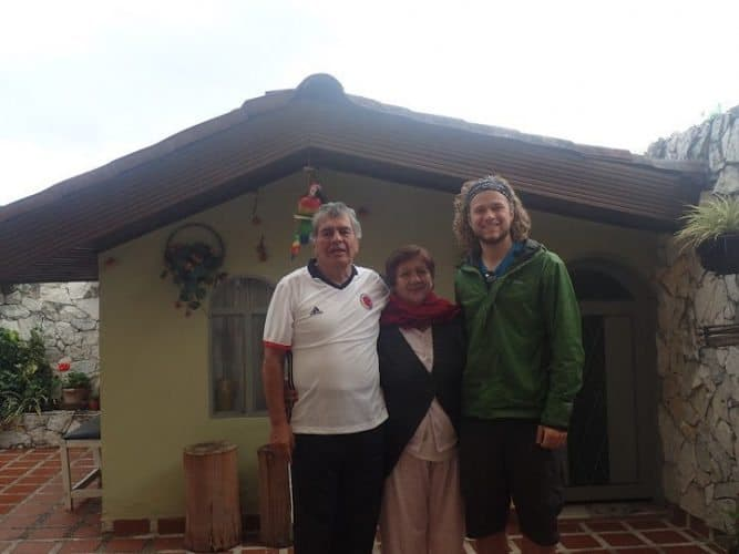 This friendly couple let the author sleep in their home during his bike adventure across Colombia.
