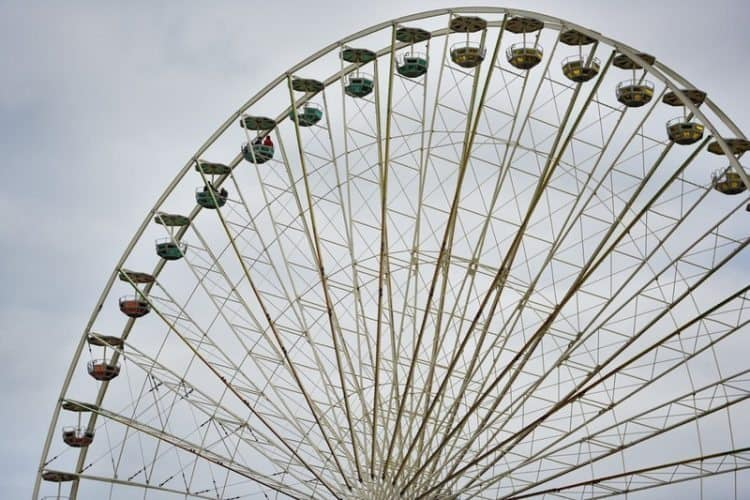 The Volksfest boasts at having the largest mobile Ferris Wheel in the world. The views from the top are breathtaking.