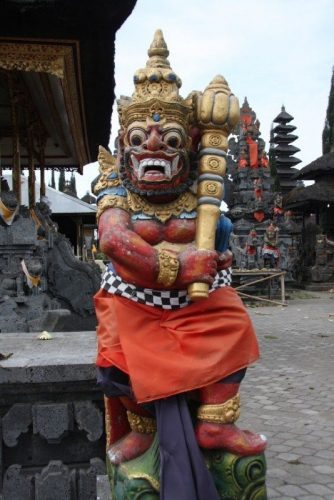 The Guardian of the temple at Pasar Agung Temple.