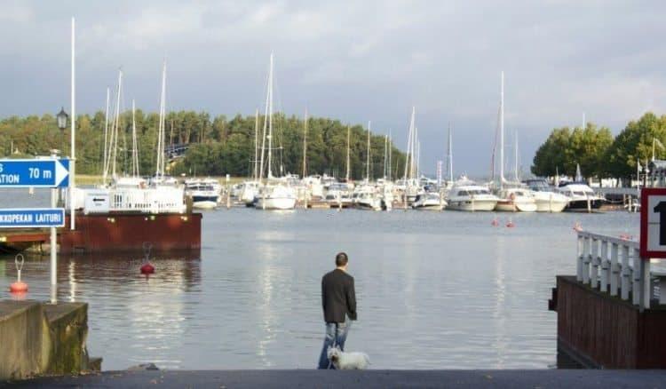 harbor hub of Naantali, Finland.