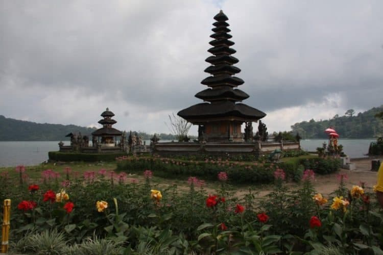 Ulun Danu Bratan Temple. It is also located in the Northeast of the island on the shores of Lake Bratan.