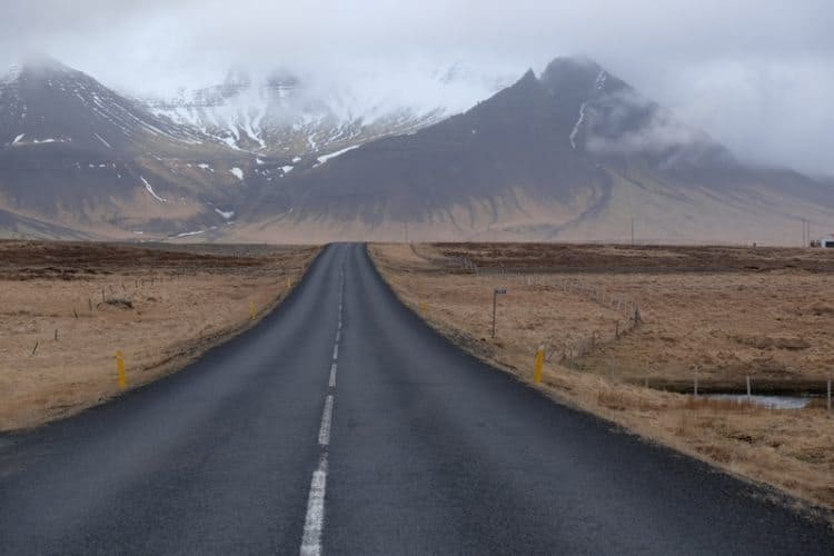 Weather permitting, road trips are always a good idea in Iceland. Here, the road to the Snæfellsnes Peninsula.