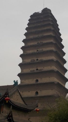 The Small Wild Goose Pagoda in Xi'an.