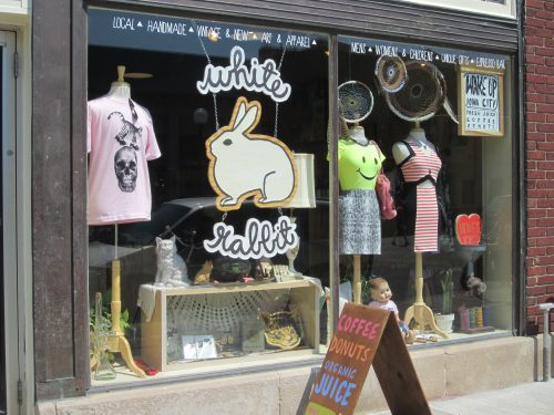 White Rabbit is a fun shop in downtown Iowa City.