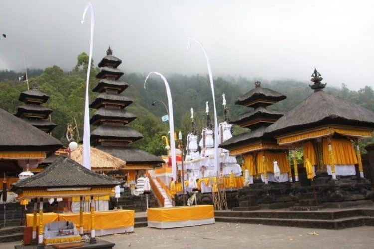 Pasar Agung Hindu Temple. It is located in the Northeast of the island
