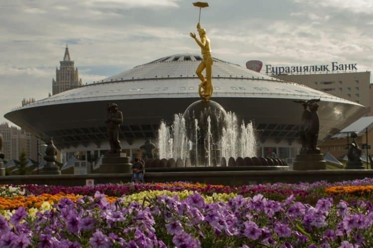 The circus in Astana well-known for resembling the shape of a UFO.