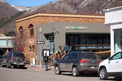 One of several legal marijuana shops in Aspen
