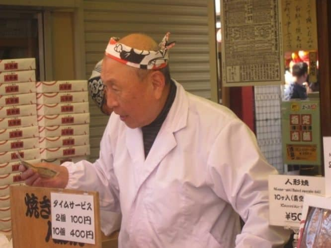 A hard-working Japanese chef in the basement of a train station.