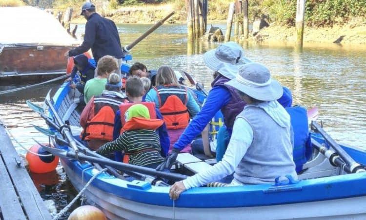 Children's rowing adventure with TSCA, Noyo River, Fort Bragg CA