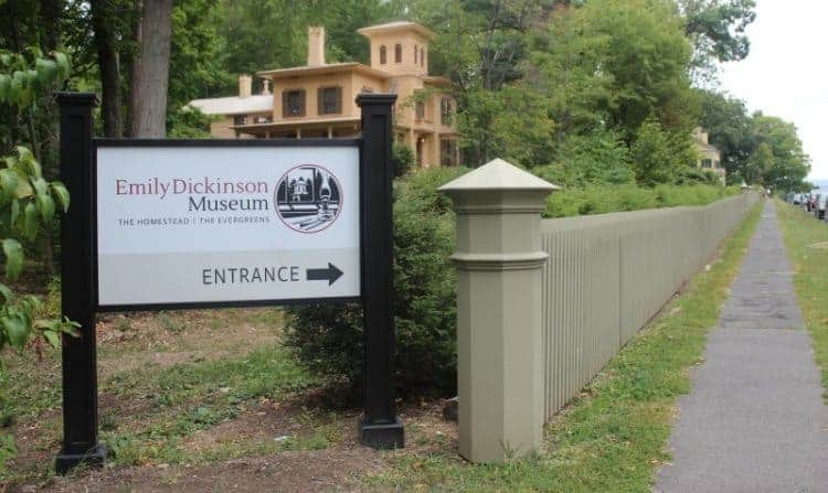 The Emily Dickinson Museum is comprised of two houses, the Evergreens, once owned by her brother Austin, and the main house where the poet lived her whole life.
