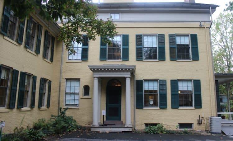 Back of Emily Dickinson's house.
