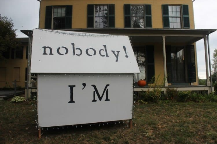 From Dickinson's poem, 'I'm nobody! Who are you?'