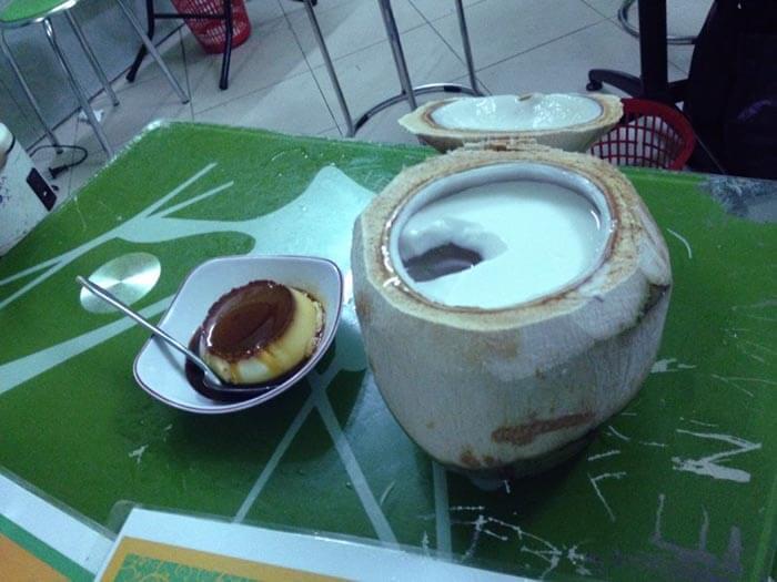 Karamen-and-coconut-jelly in Hanoi, Vietnam.