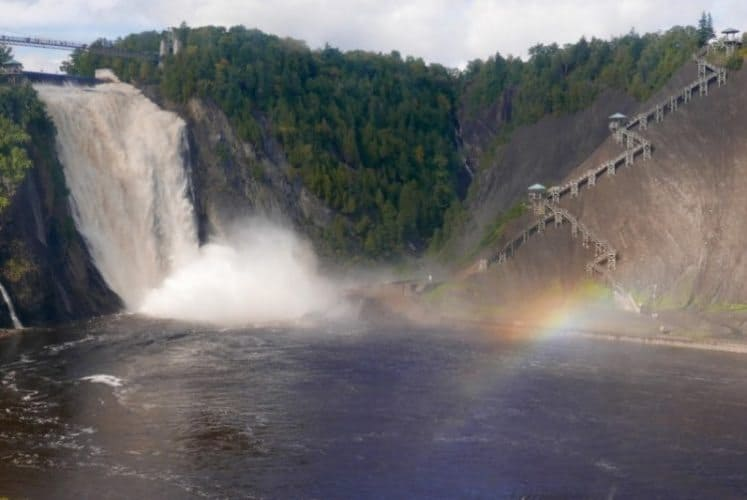 Montmorency Falls, north of Quebec City.