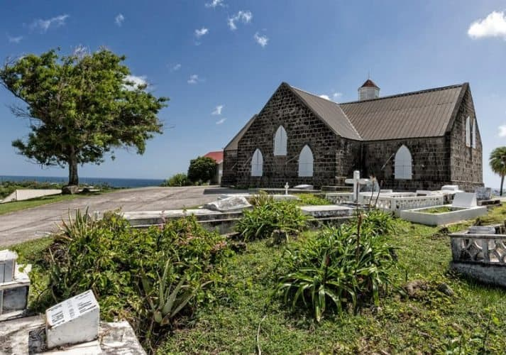 St.Thomas Anglican Church. The oldest church on the island, built in 1643. Nevis