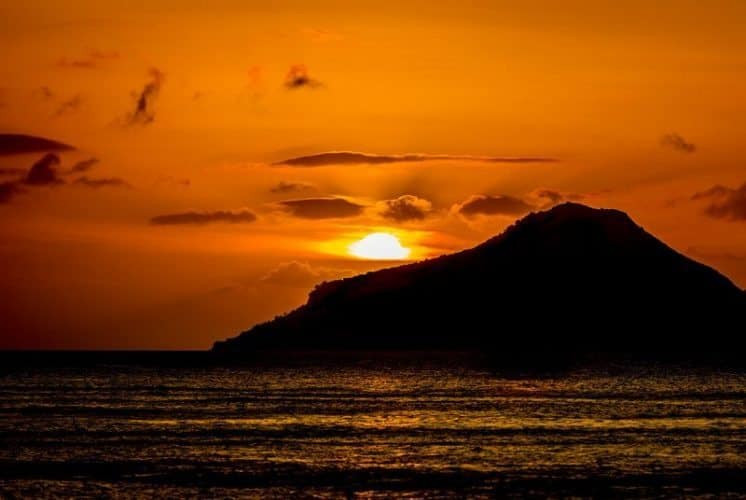 Sunset view from the Gin Trap, Nevis