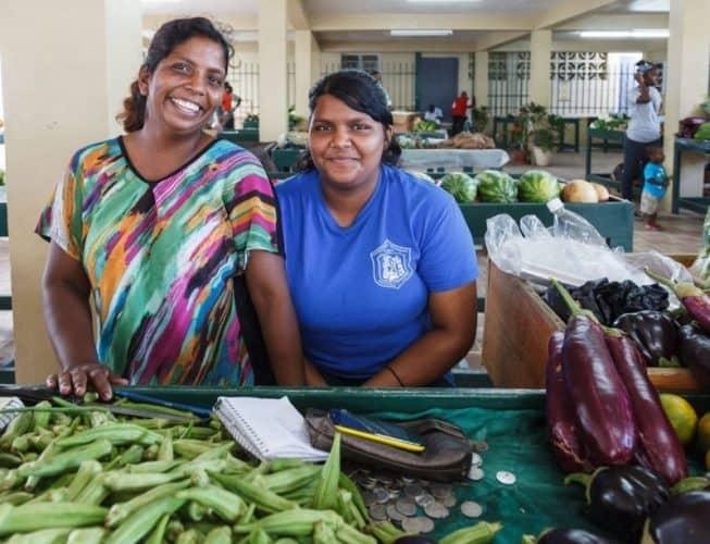Charlestown market, Nevis