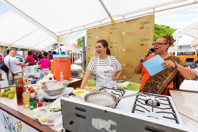 Mango Madness Street Fair. Chef Natasha Corrett, Nevis
