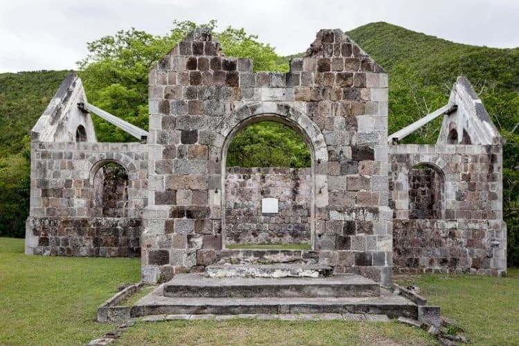 The Cottle  Church, built in 1824 was the first in the  Caribbean to have  a mixed black and white congregation that worshipped together.