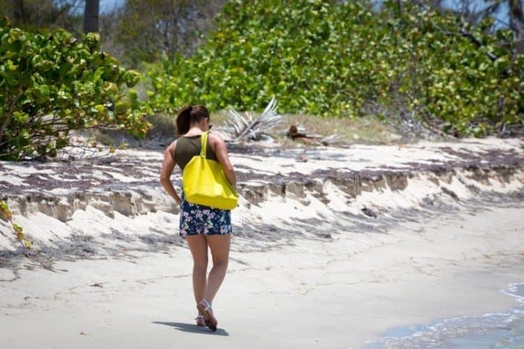 Walking Herbert's Beach., Nevis