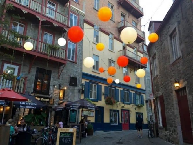 The old city in Quebec City, Quebec, Canada. Shelley Rotner photos.