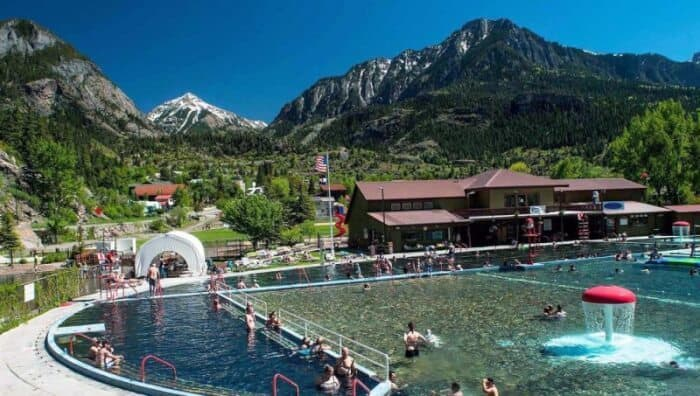 Ouray Hot Springs Pool, Ouray. Photo Credit Colorado.com and Classic Vision Photography