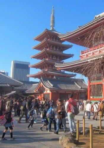 A pagoda in Tokyo.