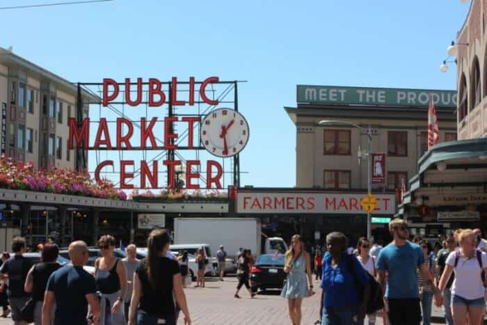 Seattle's Public Market Center, the biggest tourist draw next to the Space Needle.