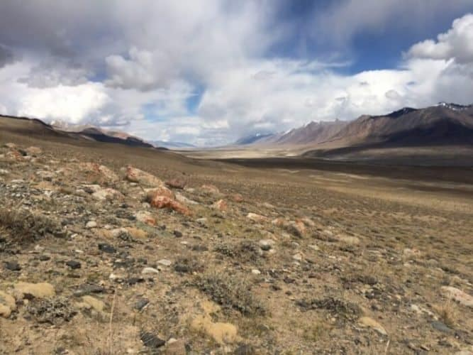 Valley near Aqbelis pass: One of the most dramatic and uninhabited places anyone has ever visited, with valleys, mountains and scenery that always made the author smile.