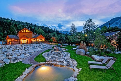 A resort in Chaffee County that offers hot spring pools and other amenities. Photo Credit Colorado.com