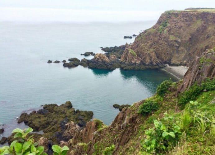The dramatic cliffs at Southwest Head on Grand Manan island. Mary Gilman photos.