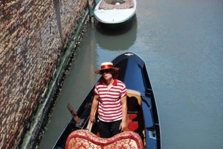 Venice's first woman gondolier, in service.