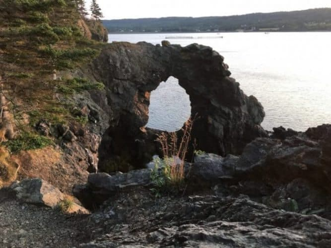 The Hole in the Wall near Whale Cove, Grand Manan Island New Brunswick. Mary Gilman photos.