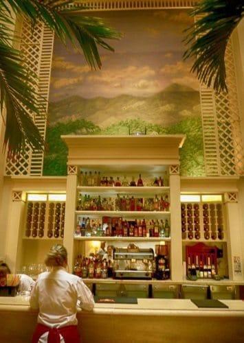 Hotel Saratoga bar in Havana, Cuba.