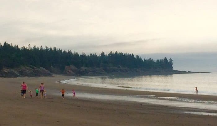 The beach at Seal Cove, Grand Manan island, New Brunswick.