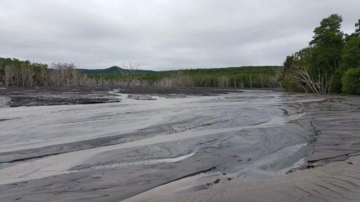 Riverbed Kamchatka, Russia.
