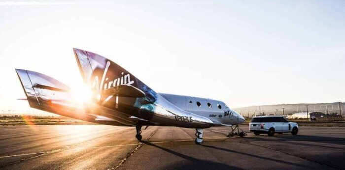 Virgin Galactic can take you way, way up in the sky, into space.
