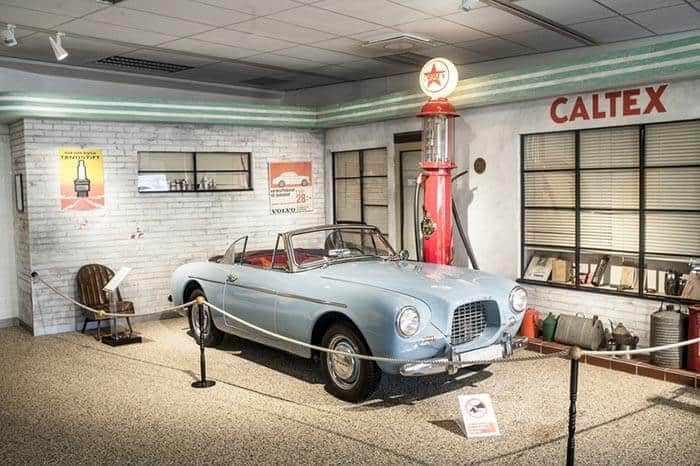 Inside the Volvo museum, near the factory.