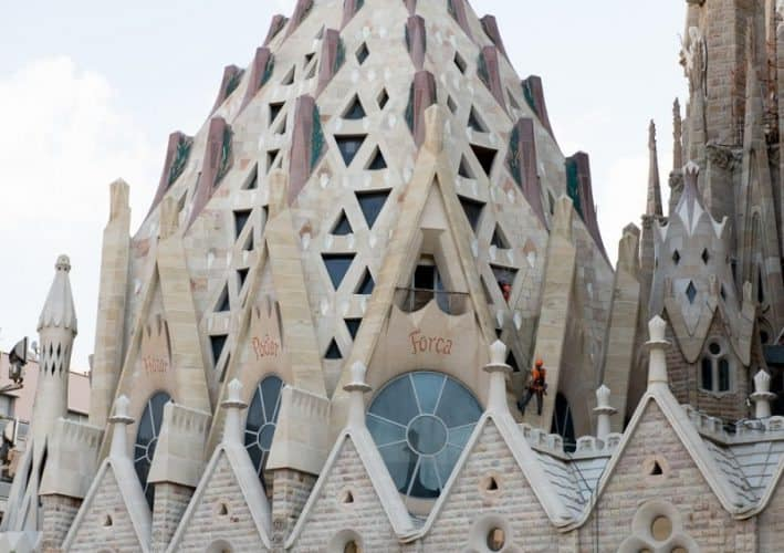 Sagrada familia exterior. One of Barcelona's most famous sites gets better every year.