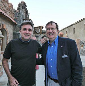 Author with U.S. AmbassadortoArmenia RichardMills at Voskevaz Winery