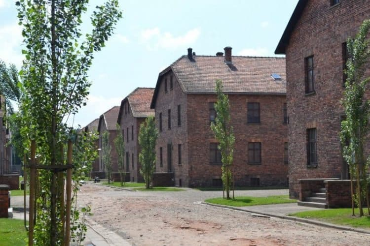 Auschwitz was once a Polish Army barracks, converted into a death camp by the occupying Nazis.