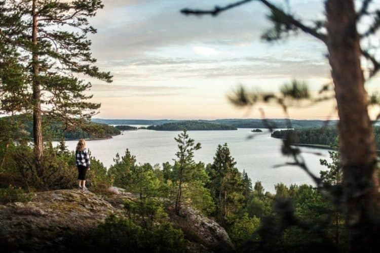 We hiked up to an overlook at Dalsland Activity Center, before staying the night in a tipi tent.