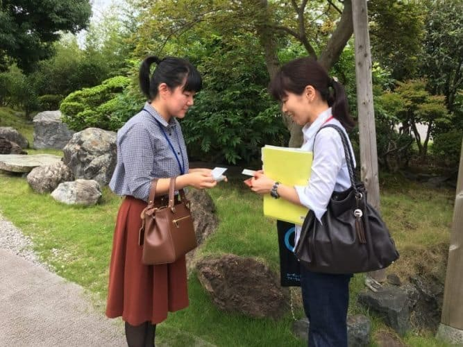 Exchanging business cards is still an important tradition in Japan.