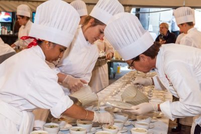 cooks at pei shellfish festival