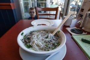 A bowl of PHO in pei
